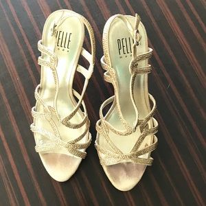 Sparkling gold Pelle Moda Strappy Heels